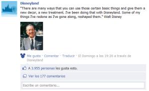 Disneyland utiza su propia aplicación para publicar en facebook